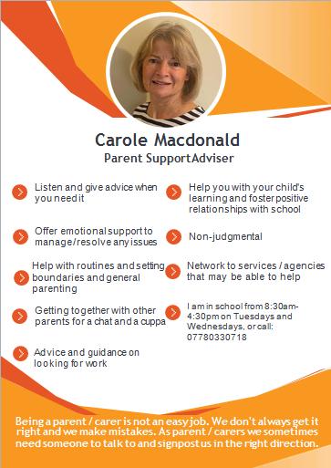 Carole Macdonald Parent Support Advisor