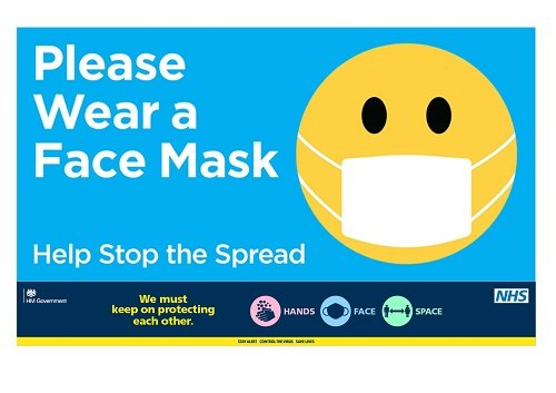 please wear a face covering whilst on our site