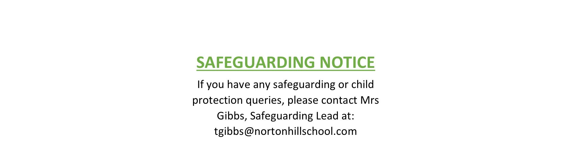 Safeguarding Info