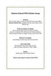 PTFA Charity Clothes Swap