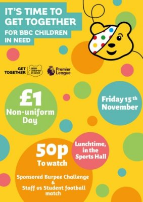 CHILDREN IN NEED. Friday 15th November