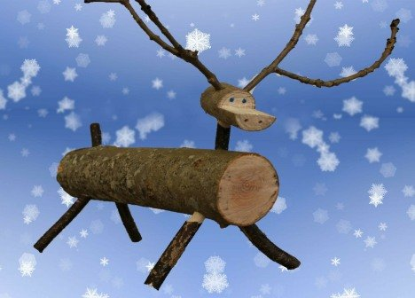 Wooden Reindeer made by a year 8 student