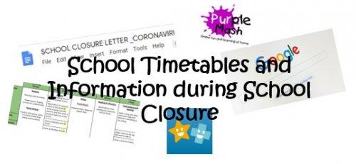 School Closure Timetables