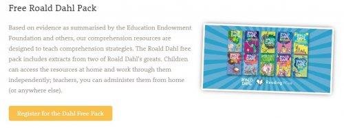 Free Roald Dahl Book Packs
